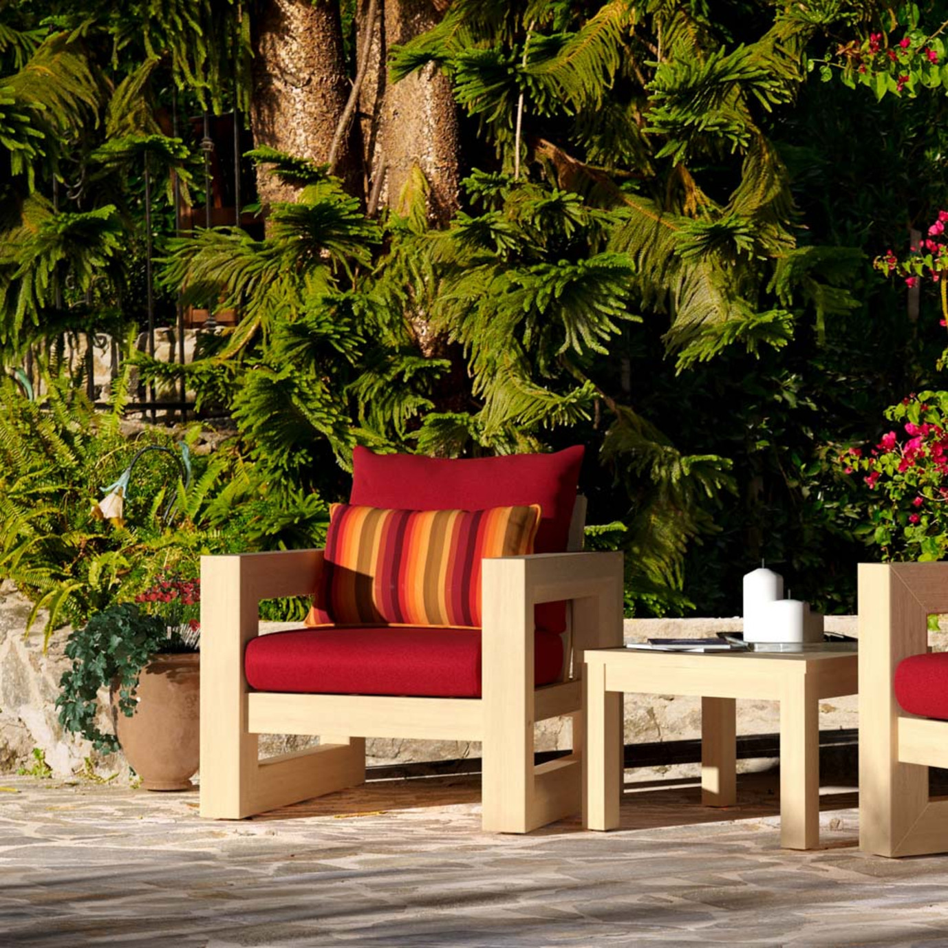 Benson Club Chairs - Sunset Red