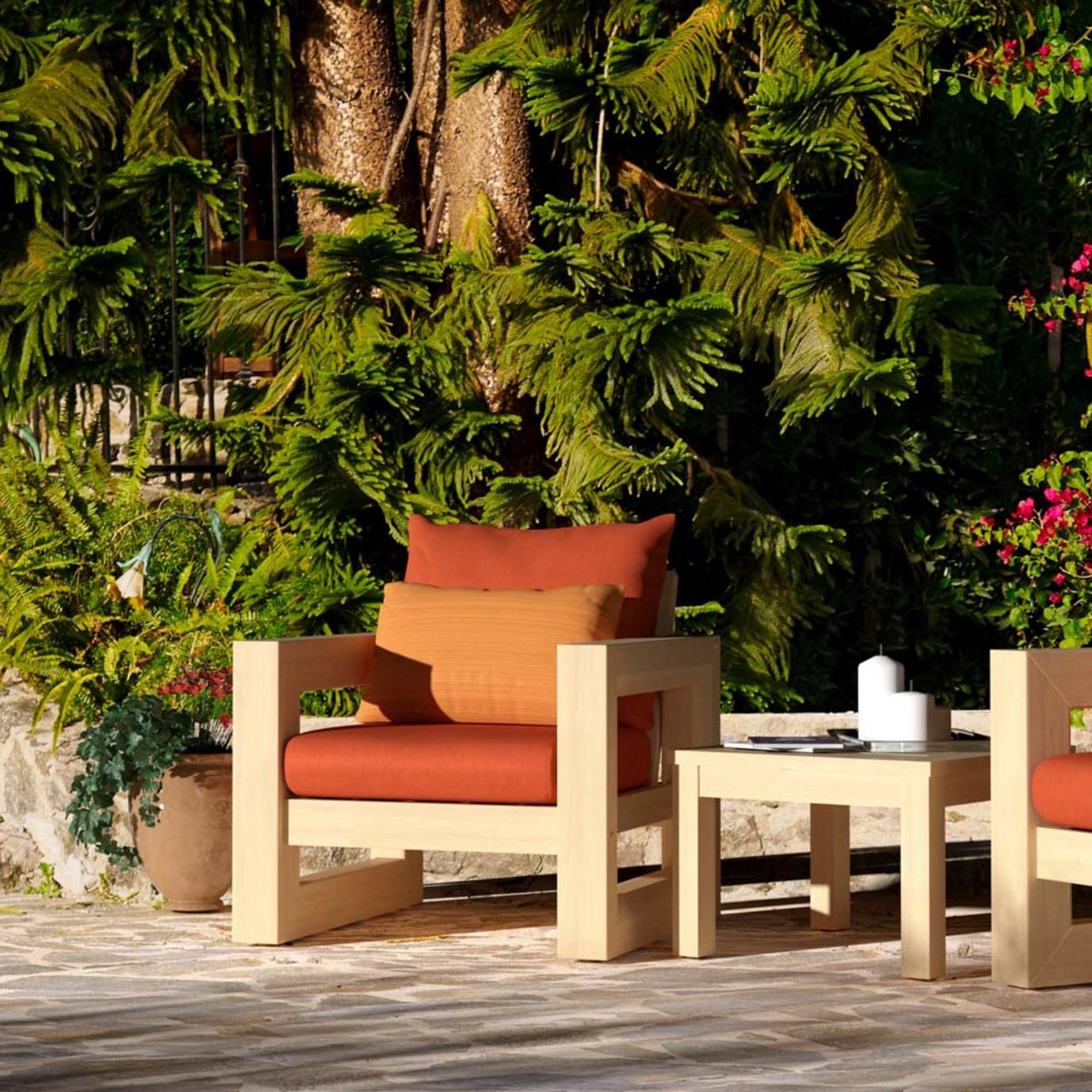 Benson Club Chairs - Tikka Orange