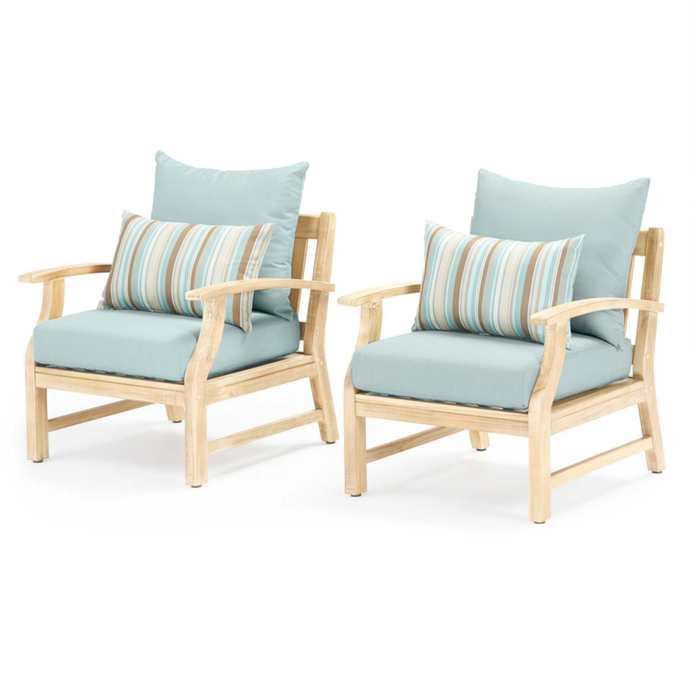 Kooper Club Chairs - Bliss Blue