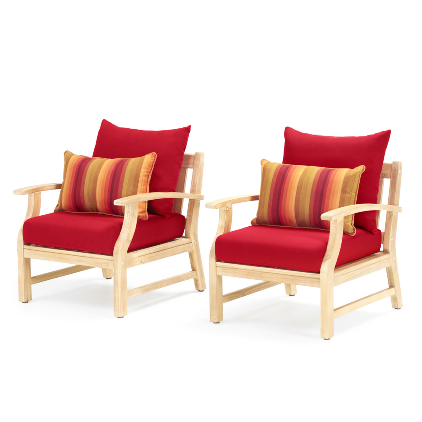 Kooper Club Chairs - Sunset Red