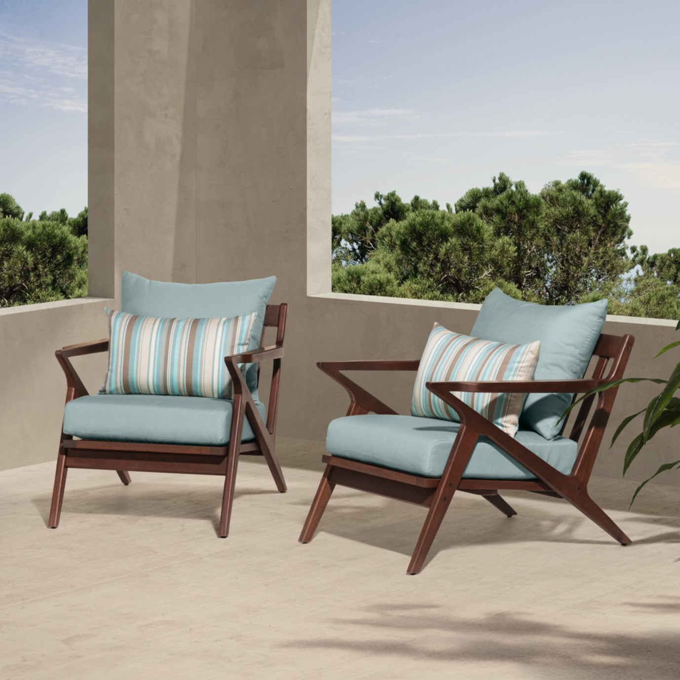 Vaughn Club Chairs - Bliss Blue