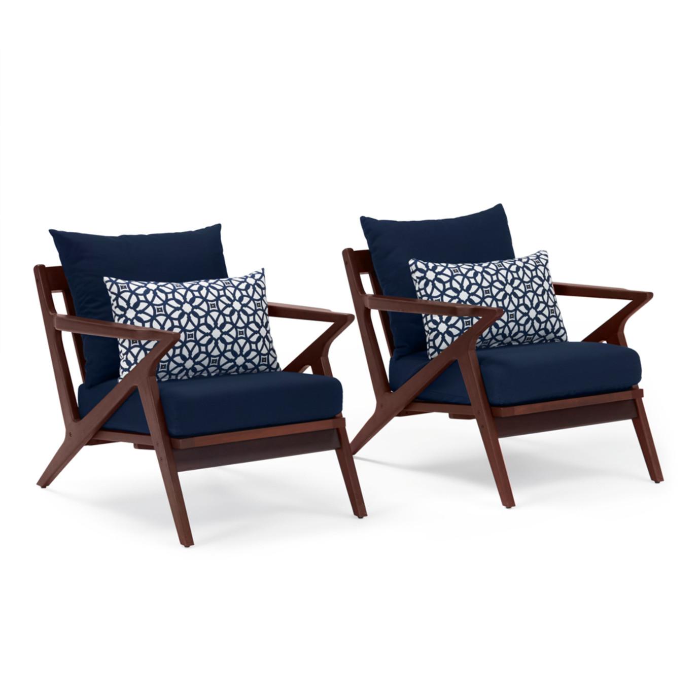 Vaughn Club Chairs - Navy Blue