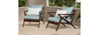 Vaughn™ Club Chairs - Spa Blue