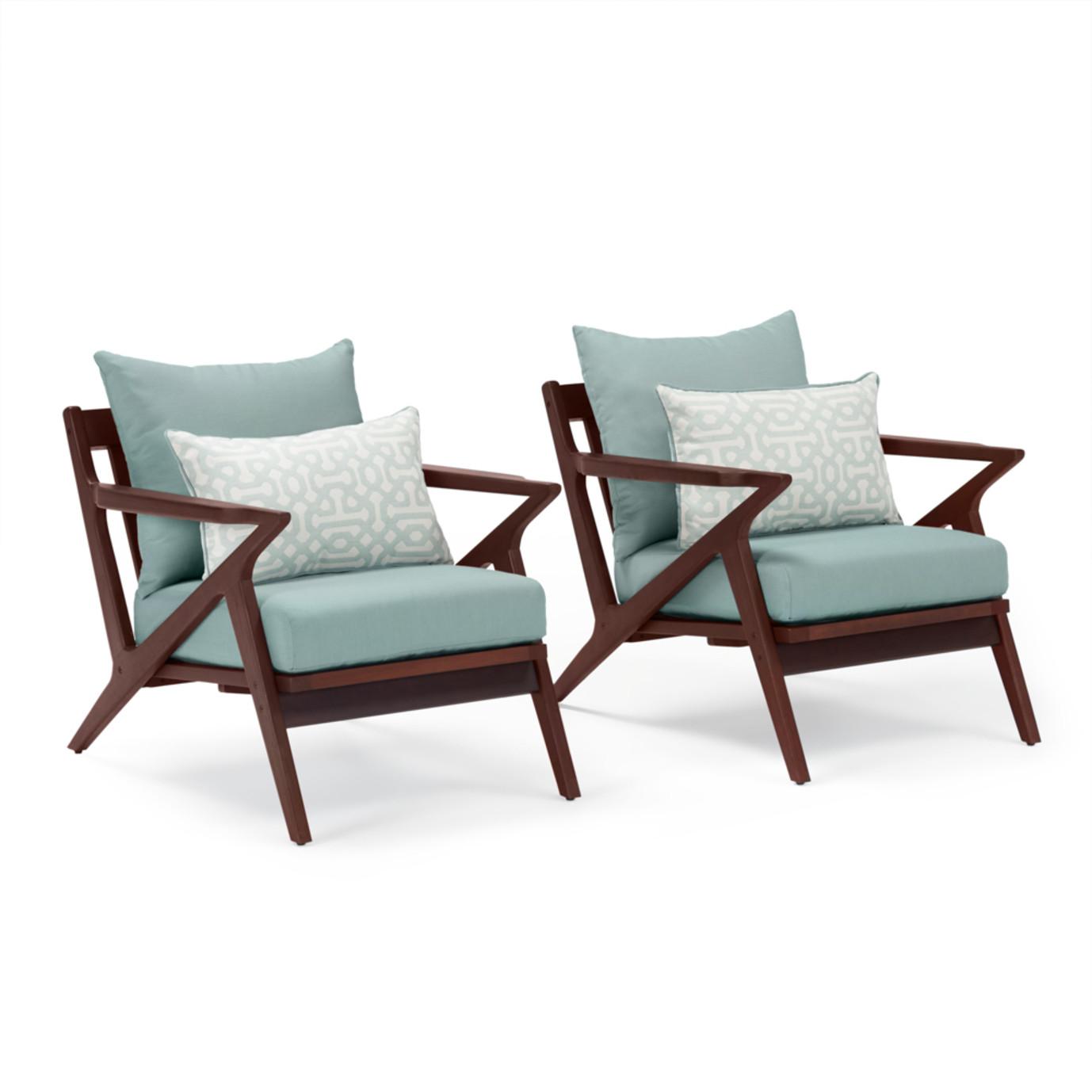 Vaughn Club Chairs - Spa Blue