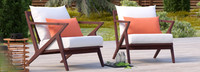 Vaughn™ Club Chairs - Sunset Red