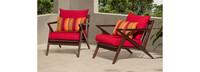 Vaughn™ Club Chairs - Tikka Orange