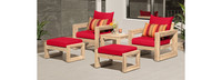 Benson™ 5 Piece Club Chair & Ottoman Set - Bliss Blue
