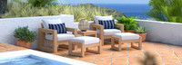 Benson™ 5 Piece Club Chair & Ottoman Set - Centered Ink