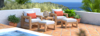Benson™ 5 Piece Club Chair & Ottoman Set - Cast Coral
