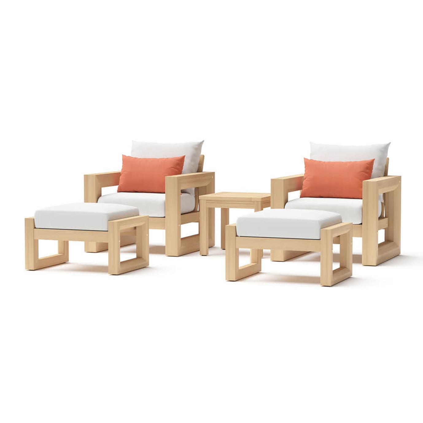 Benson 5 Piece Club Chair & Ottoman Set
