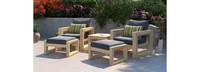 Benson™ 5 Piece Club Chair & Ottoman Set - Spa Blue