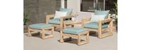 Benson™ 5 Piece Club Chair & Ottoman Set - Sunset Red