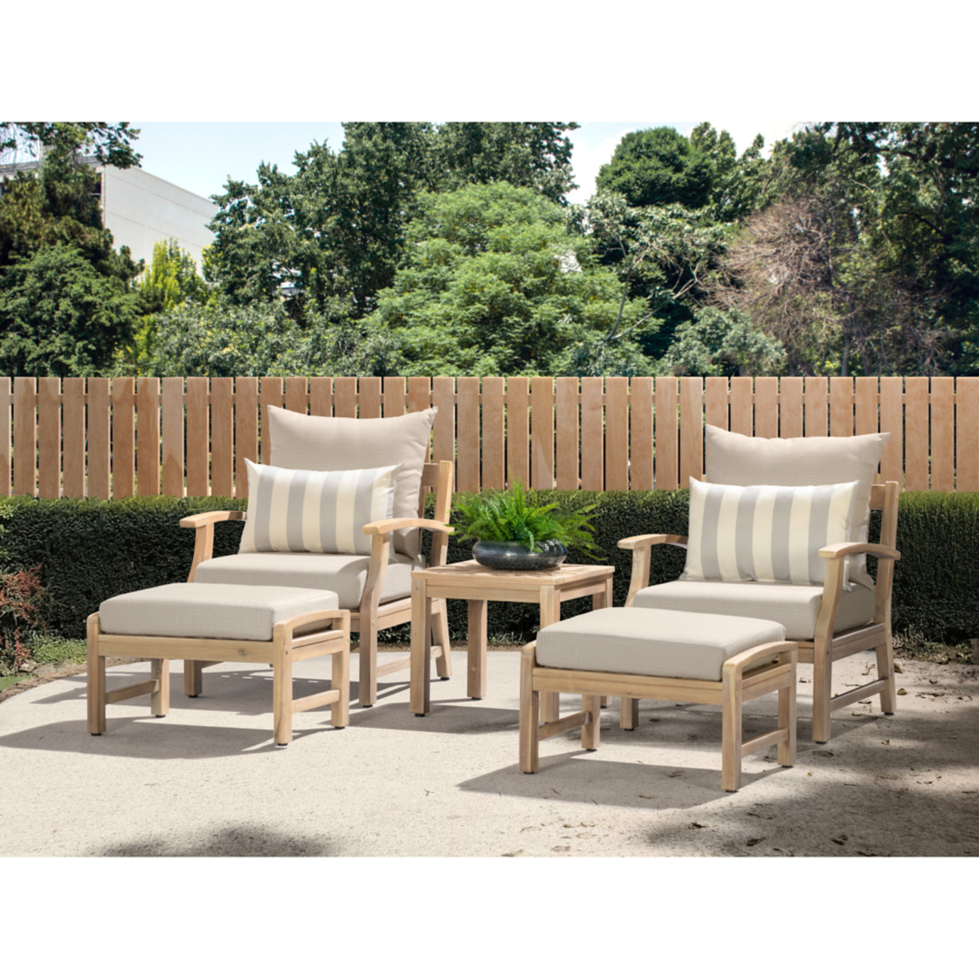 Kooper 5pc Club Chair & Ottoman Set - Slate Gray