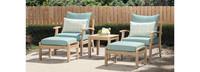 Kooper™ 5 Piece Club Chair & Ottoman Set - Spa Blue