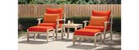 Kooper™ 5 Piece Club Chair & Ottoman Set - Sunset Red
