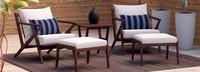 Vaughn™ 5pc Club Chair & Ottoman Set - Bliss Ink