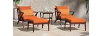 Vaughn™ 5 Piece Club Chair & Ottoman Set - Charcoal Gray