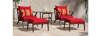 Vaughn™ 5pc Club Chair & Ottoman Set - Centered Ink