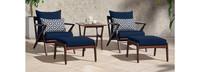 Vaughn™ 5 Piece Club Chair & Ottoman Set - Navy Blue