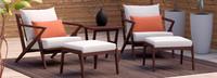 Vaughn™ 5 Piece Club Chair & Ottoman Set - Spa Blue