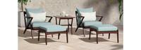 Vaughn™ 5 Piece Club Chair & Ottoman Set - Sunset Red
