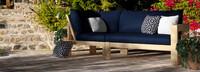 Benson™ Corner Chair - Navy Blue