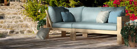 Benson™ Corner Chair - Spa Blue