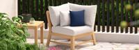 Kooper™ Corner Chair - Cast Coral