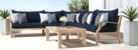 Kooper™ Corner Chair - Navy Blue