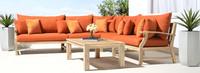 Kooper™ Corner Chair - Sunset Red
