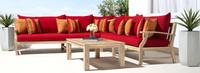 Kooper™ Corner Chair - Tikka Orange