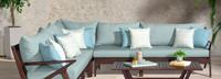 Vaughn™ Corner Chair - Bliss Blue