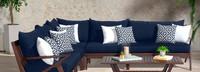 Vaughn™ Corner Chair - Charcoal Gray