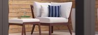 Vaughn™ Corner Chair - Navy Blue