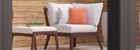 Vaughn™ Corner Chair - Sunset Red