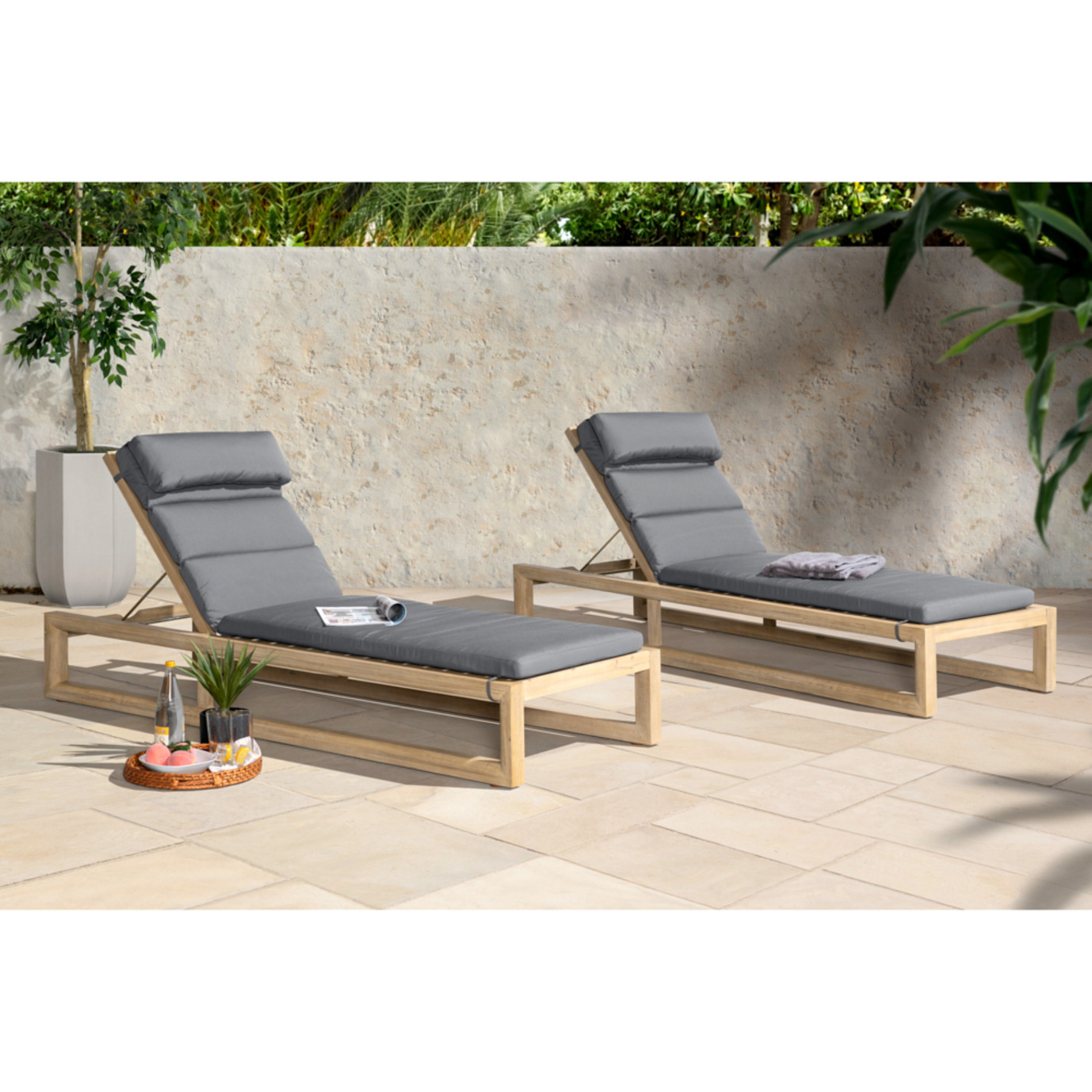 Benson Chaise Lounges - Charcoal Gray