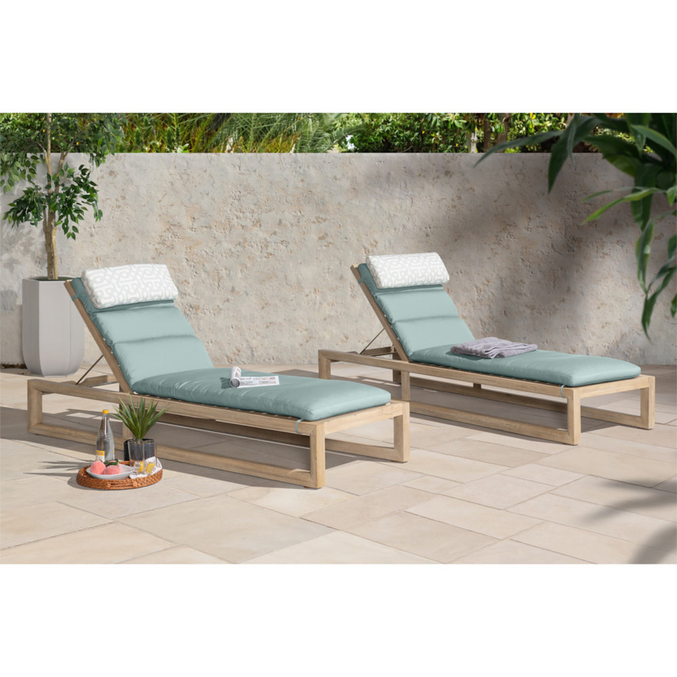 Benson™ Chaise Lounges - Slate Gray