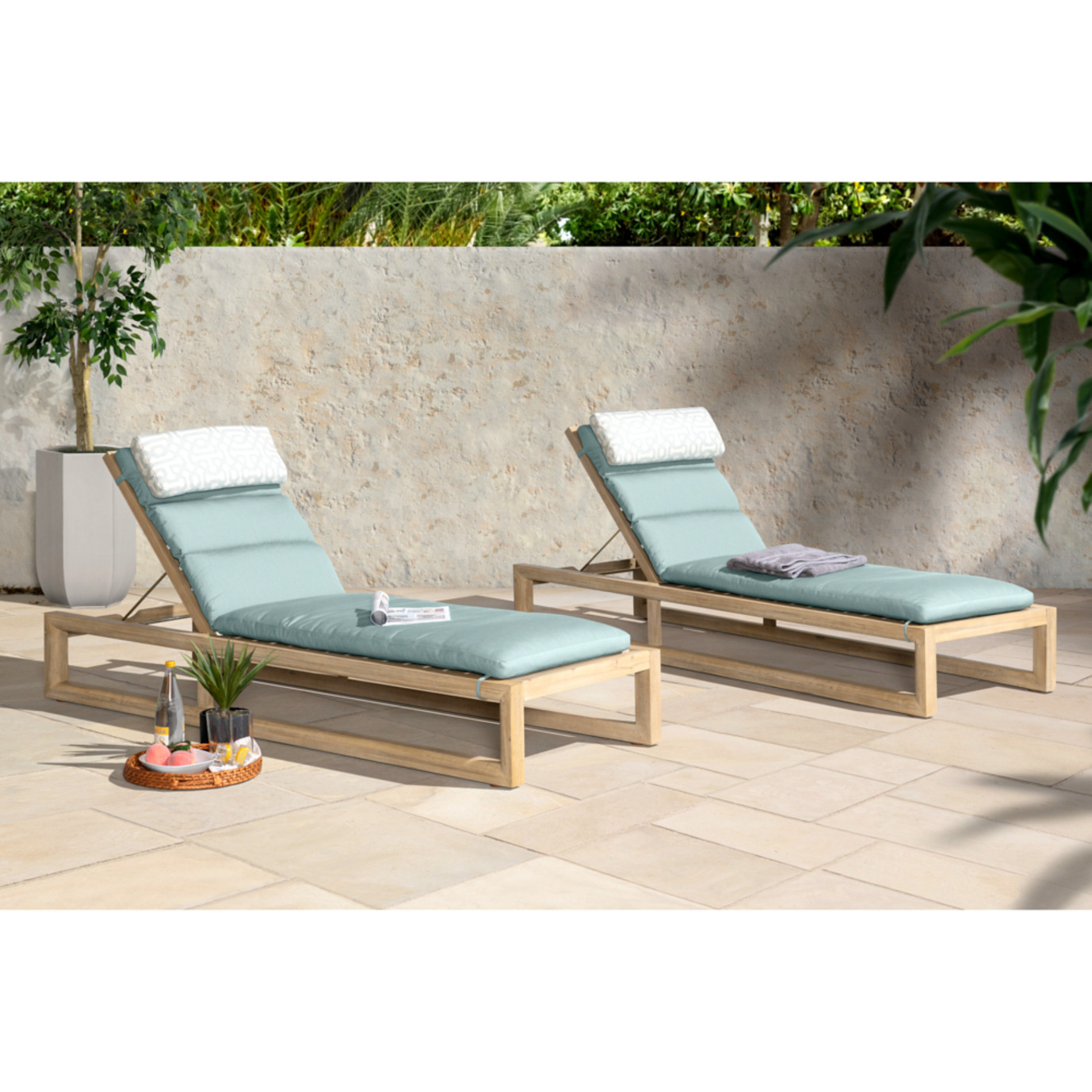Benson Chaise Lounges - Spa Blue