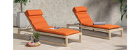 Benson™ Chaise Lounges - Sunset Red