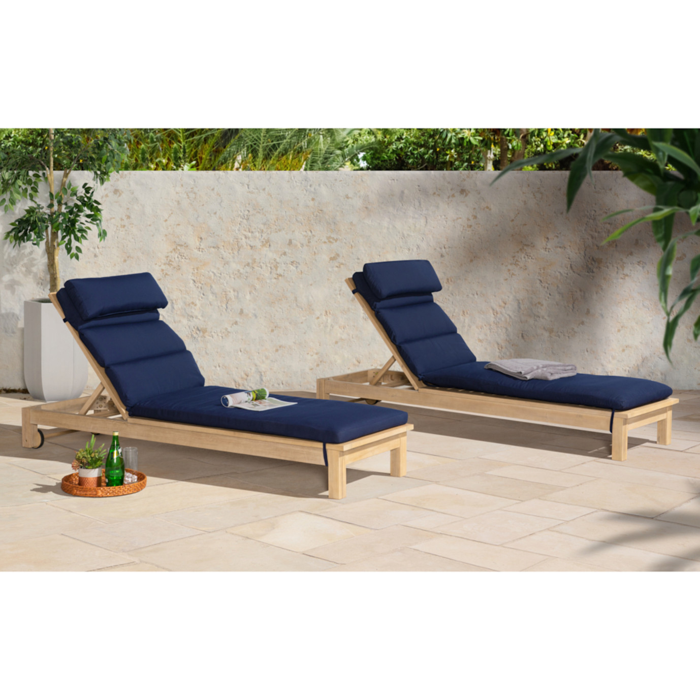 Kooper Chaise Lounges - Navy Blue
