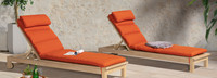 Kooper™ Chaise Lounges - Sunset Red