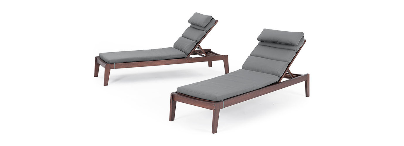 Vaughn™ Chaise Lounges - Charcoal Gray