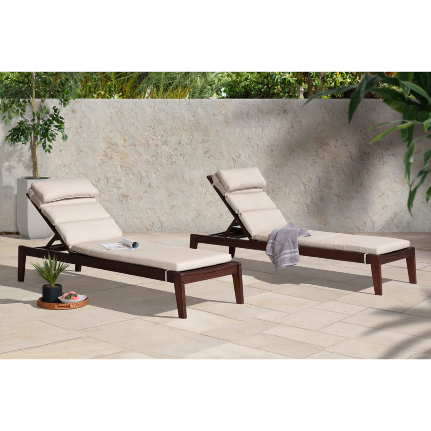 Vaughn Chaise Lounges - Slate Gray