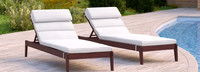 Vaughn™ Chaise Lounges - Sunset Red