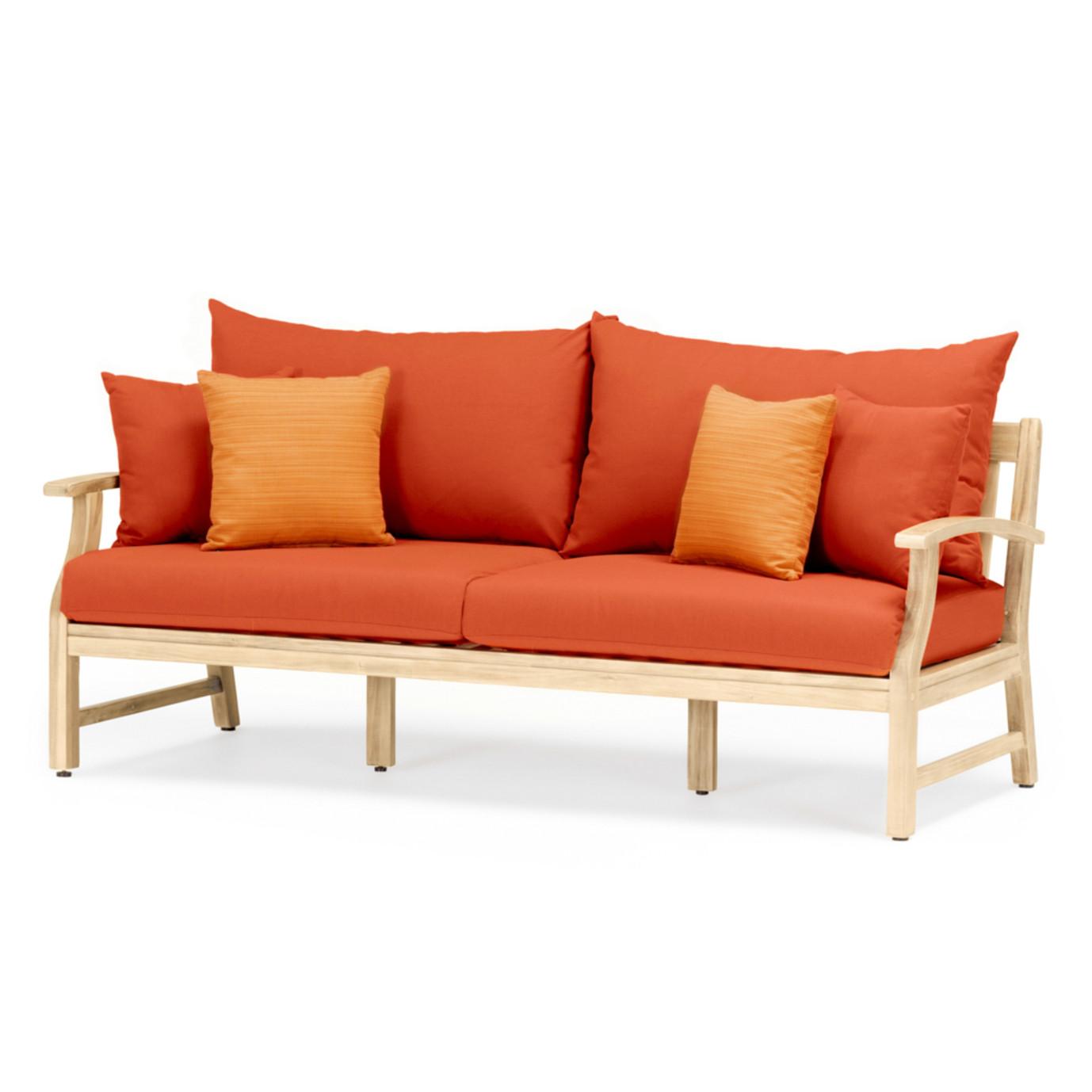 Kooper 76in Sofa - Tikka Orange