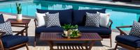 Vaughn™ 76in Sofa - Navy Blue