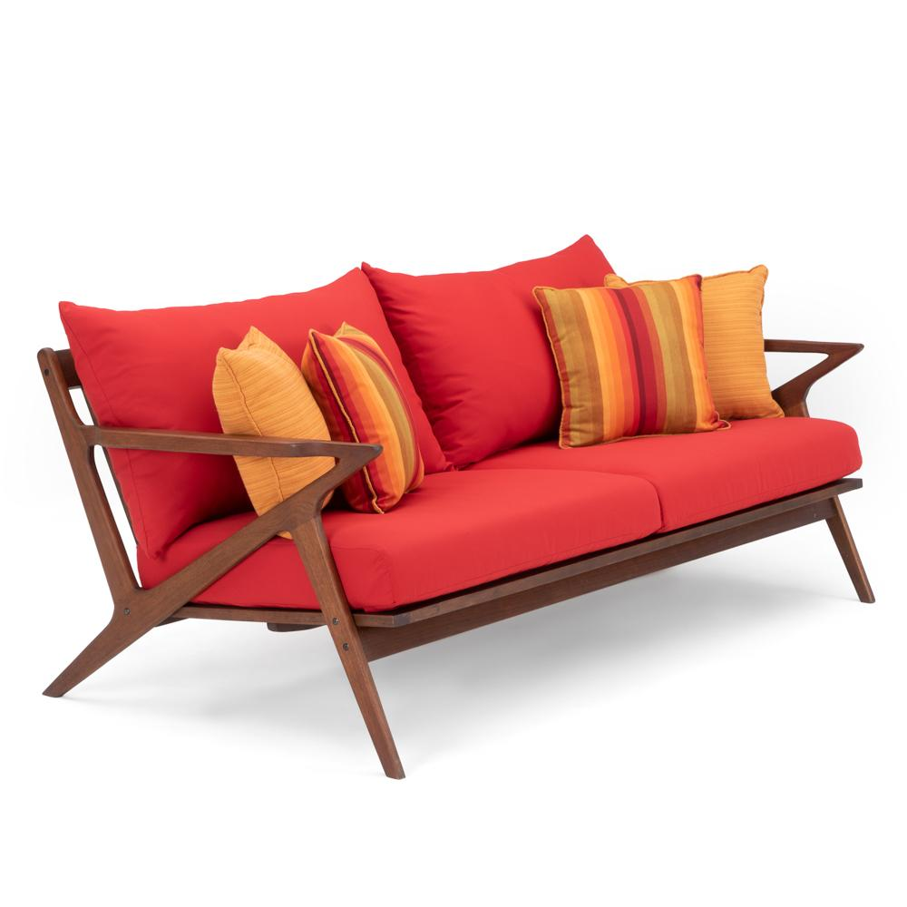 Vaughn 76in Sofa - Sunset Red
