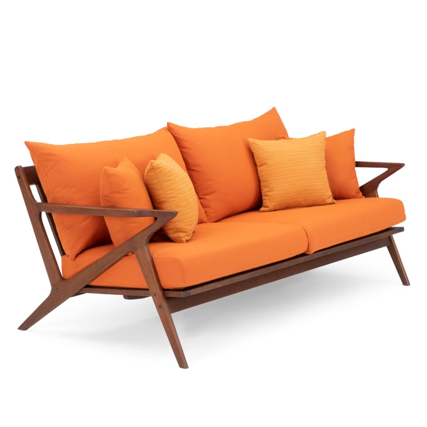 Vaughn 76in Sofa - Tikka Orange