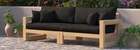 Benson™ 96in Sofa - Canvas Black