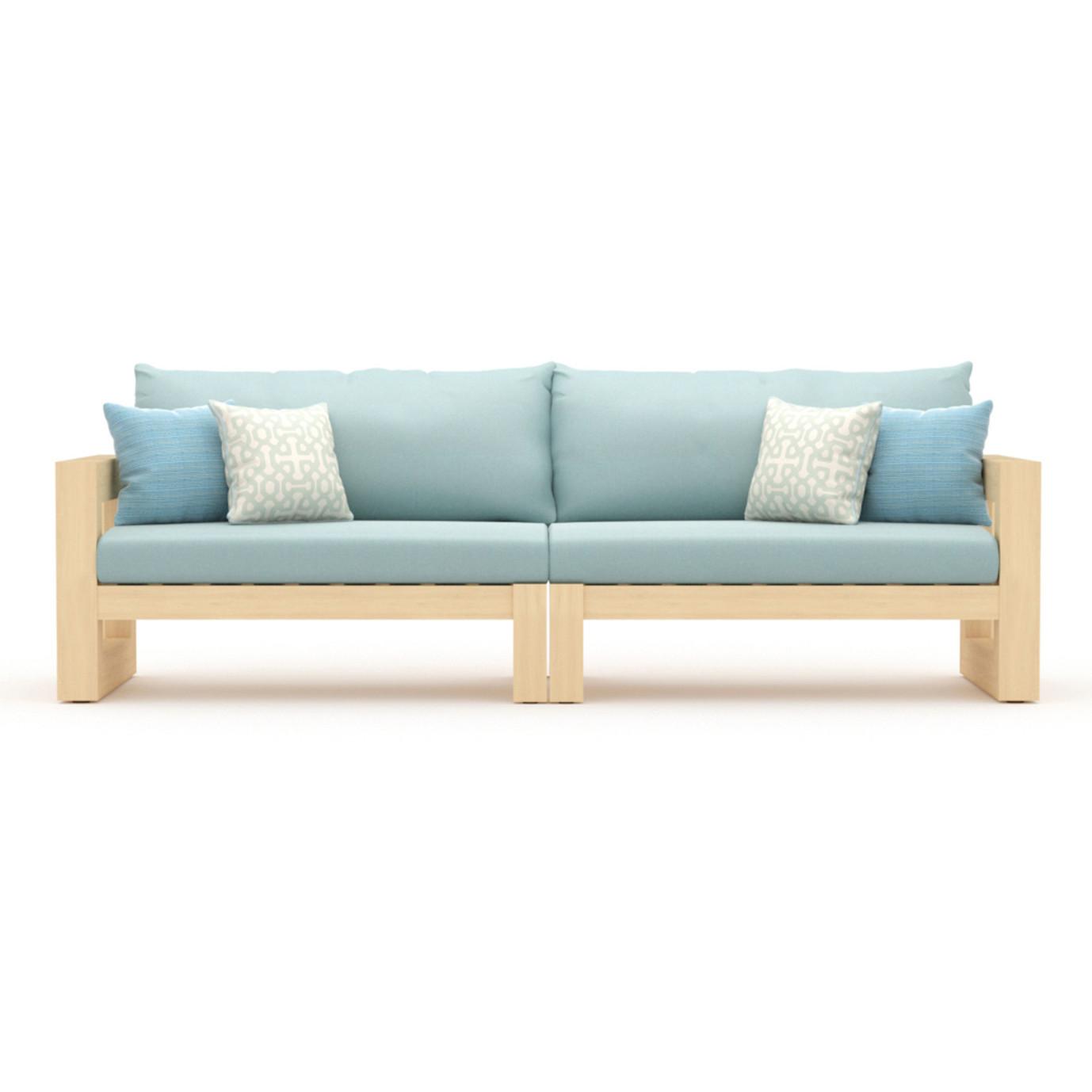 Benson 96in Sofa - Spa Blue